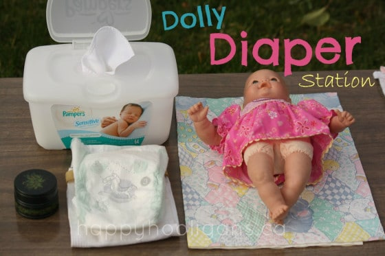 doll diaper station