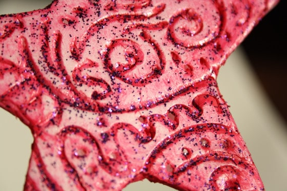 pink styrofoam star ornament