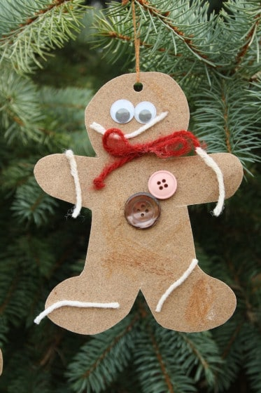 Scented Sandpaper Gingerbread Ornaments - Happy Hooligans