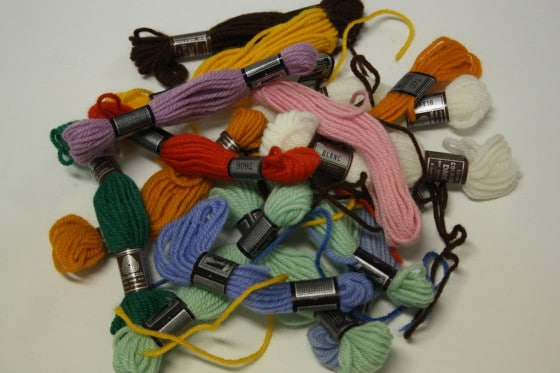 embroidery yarn for lacing tree ornaments