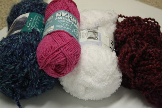 Yarn for lacing tree ornaments