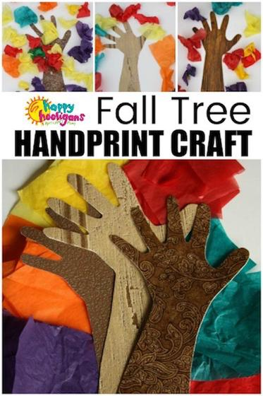 Fall Tree Handprint Craft for Toddlers and Preschoolers