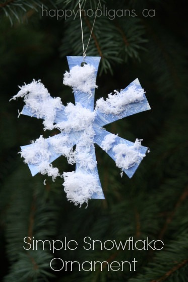 Simple Snowflake Ornaments