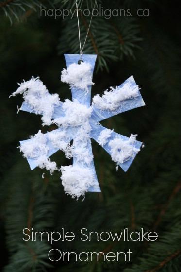Simple Snowflake Ornaments
