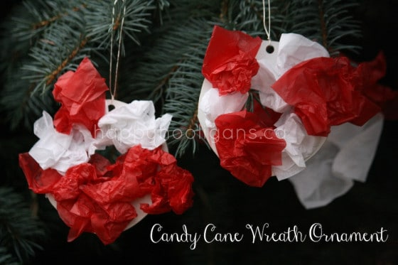 candy cane wreath ornaments - feature image