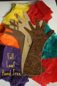 fall leaf hand tree