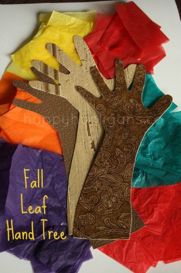 easy fall crafts with tissue paper and wallpaper samples