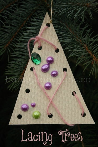 lacing tree ornaments cover photo