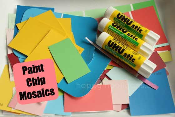 Paint Chip Mosaics Materials