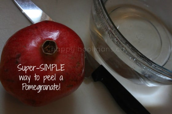 easy way to peel a pomegranate