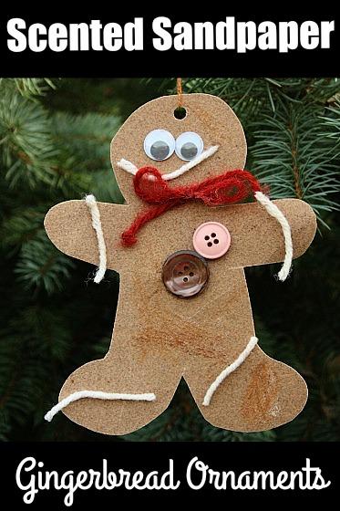 Scented sandpaper gingerbread craft for kids