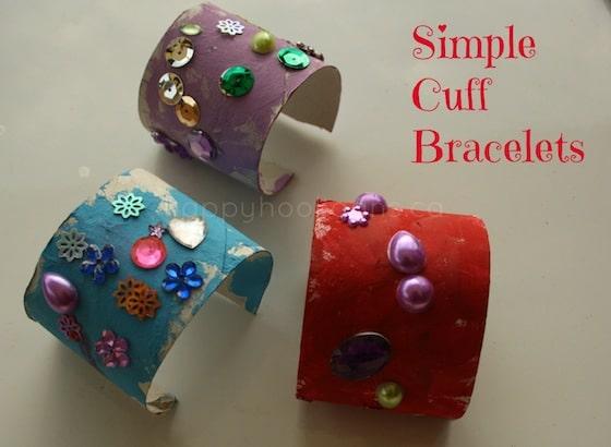toilet roll bracelets