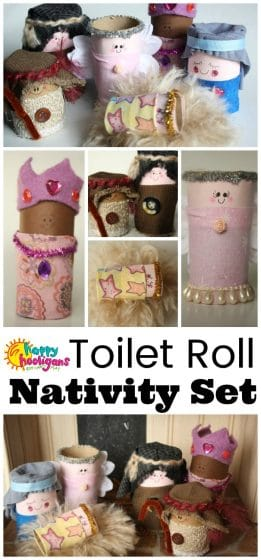 Homemade Nativity Set with Toilet Rolls