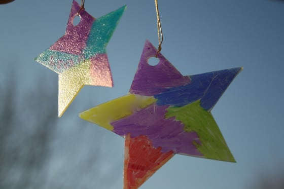 Milk jug sun catchers for christmas happy hooligans for Christmas crafts with milk jugs
