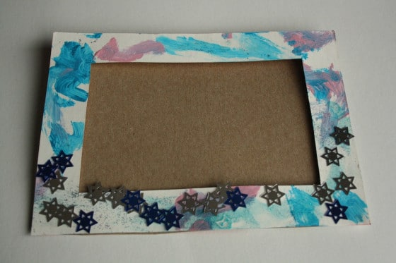 cardboard holiday picture frame no photo