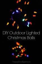 DIY Lighted Christmas Balls – a Unique Outdoor Christmas Light Idea