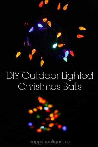 DIY Outdoor Lighted Christmas Balls