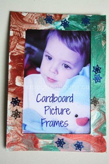 Homemade Cardboard Picture Frames for Toddlers and Preschoolers to Make