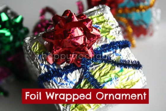foil wrapped ornaments