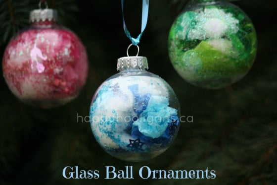 coloured glass ball ornaments