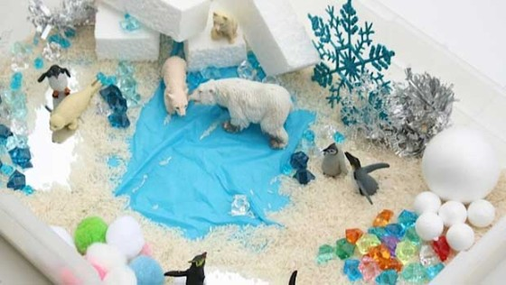 winter sensory bin - happy hooligans & cbc kids