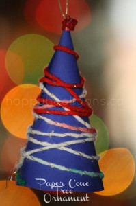 paper cone tree ornament cover pic