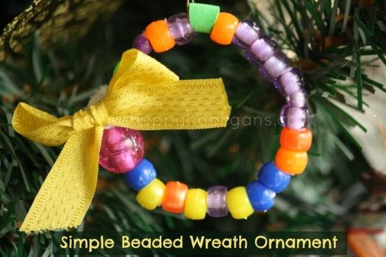 simple beaded wreath ornament cover photo