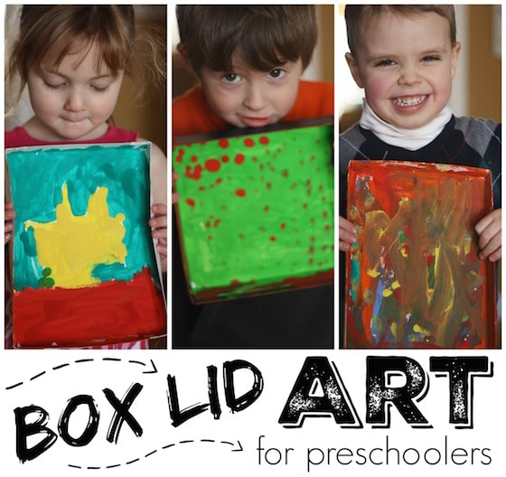 Box Lid Art for Preschoolers