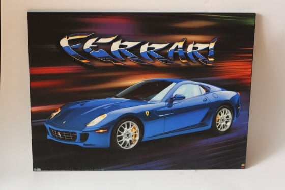 ferrari painting used for recycled art