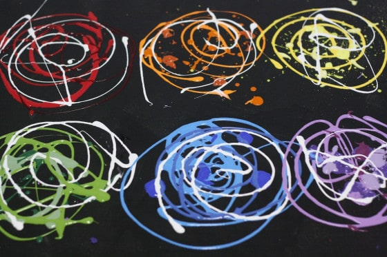 recycled art swirls of colour