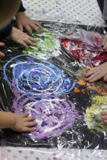 smoosh painting art technique for kids