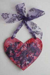 Melted Crayon Art Hearts