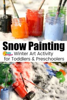 Snow Painting Activity – Outdoor Winter Art Activity for Kids