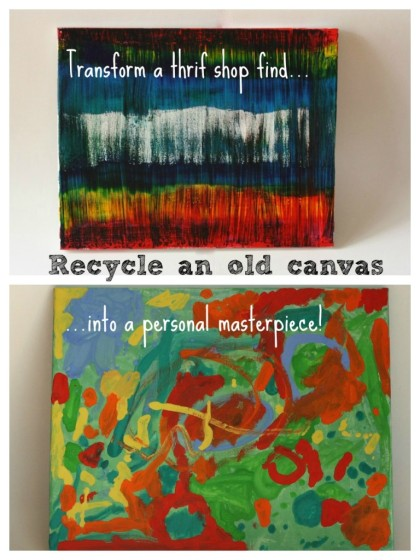 recycled painting before and after