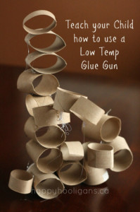 teach your child to use a low temp glue gun