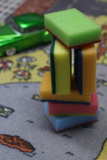 sponges used as building blocks