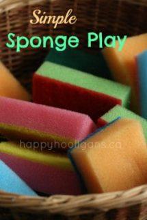 coloured sponges in a basket