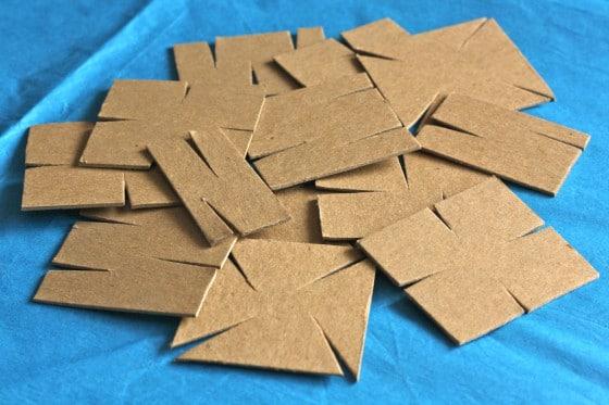 homemade cardboard construction set pieces