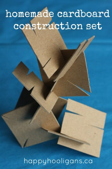 Homemade cardboard construction set
