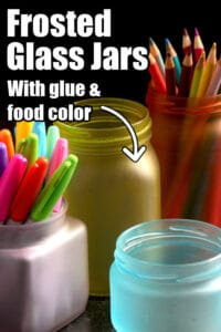 How to make frosted jars with glue and food colour