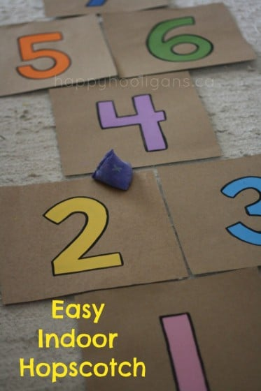 Make An Indoor Hopscotch For Rainy Days Happy Hooligans