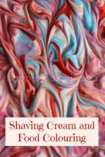 shaving cream and food colouring cover photo