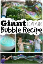 How to Make Homemade Giant Bubbles that will Blow your Mind