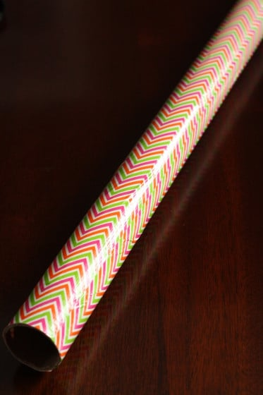 cardboard drop zone - a tube covered in duck tape brand tape
