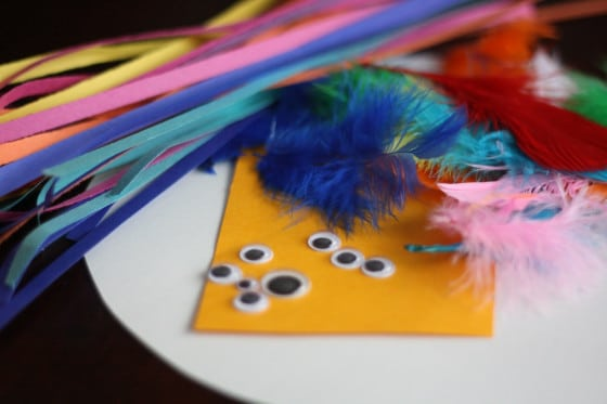 supplies for paper plate bird craft