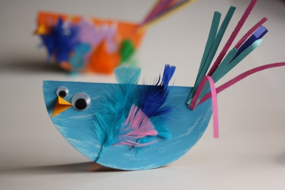 rocking bird craft  made from paper plates & Paper Plate Bird Craft for Kids - Easy and SO Cute!