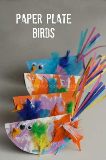 paper plate birds - one of our most popular posts in 2013