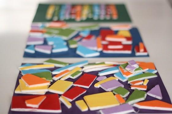 styrofoam mosaic art