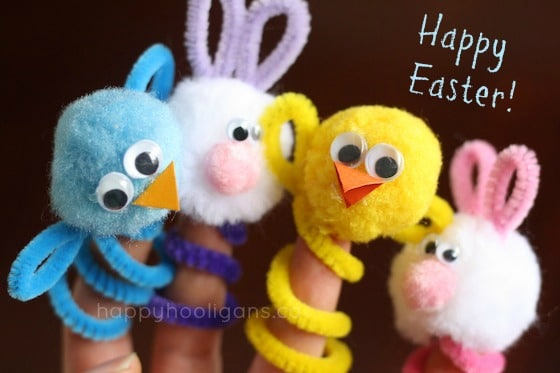 easter finger puppet collection