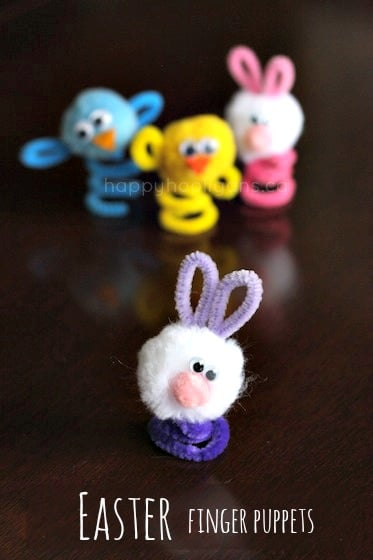 4 Easter finger puppets - happy hooligans